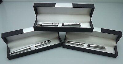THREE BLUE LODGE PENS QUALITY HEAVY WEIGHT Masonic F&AM OFFICER GIFTS SILVER