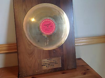 Born To Run Gold Record In House Award For Sale Of More Than $1,000,000 In Sales