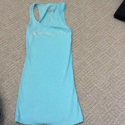 victoria secret just married blue tank size small