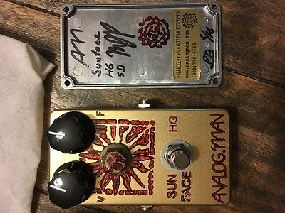 AnalogMan SunFace pedal - HG high gain model. Sweet germanium fuzz!! US made