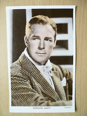 PARAMOUNT Star's Real Photo Postcard- RANDOLPH SCOTT, No.256