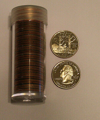 2001 S 25c Vermont State Quarter Roll 40 Coins
