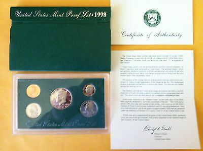 1998 U.S. Mint proof set in OGP. Will combine wins = low shipping.