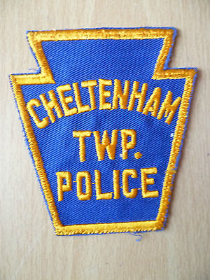 Patches: CHELTENHAM TWP. NEW JERSEY POLICE PATCH (NEW,apx.3.12x3 inch)