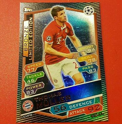 Match Attax 2016/17 Champions  League: Bronze Limited Edition Thomas Muller !