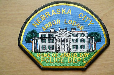 Patches: NEBRASKA CITY ARBOR LODGE US POLICE PATCH (NEW*apx.12.5x9.5 cm)