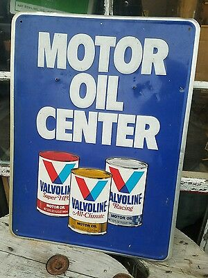 1983 Vintage Valvoline Sign Motor Oil Center Gas Station Embossed Racing VTG