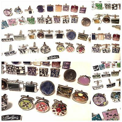 Vintage Lot Of 41 Single Cufflinks All Signed THOMPSON LONDON With Swarovski Cry