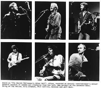 Concert In London With Eric Clapton, Collins, Beck And More     8X10 Photo #276