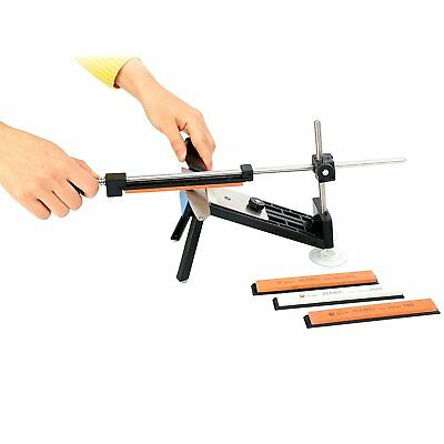 Professional Kitchen Sharpening Knife Sharpener System Fix Angle with 4 Stones-N