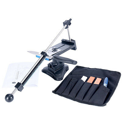NEW!!! Kitchen Sharpening Knife Sharpener System Fix Angle with 4 Stones