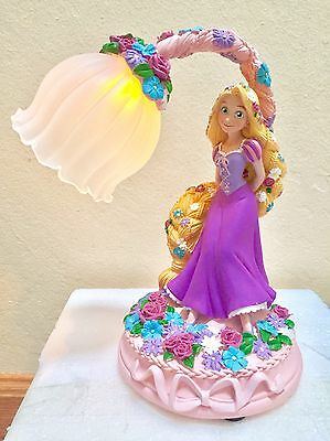 Disney Store Japan Tangled Rapunzel Flower WISH LED Light Lamp Figure Figurine