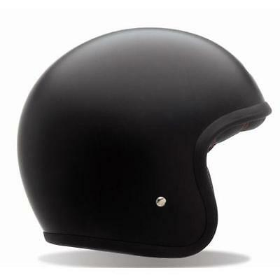 Bell Custom 500 Helmet - Matte Black Without Studs Open Face Motorcycle Road Cru