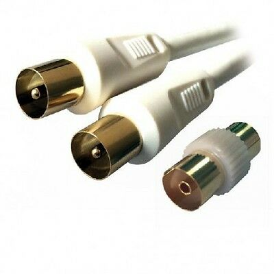 MCL - MC782HQ-3M 3m 9.5mm 9.5mm Color blanco cable coaxial