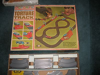 Ideal Motorific Alcan Highway Track Set with Car bodies, chassis & motor