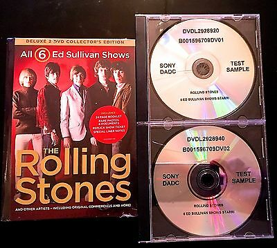 PROMO ONLY All 6 Ed Sullivan Shows: The Rolling Stones [2 Discs] DVD Region ALL