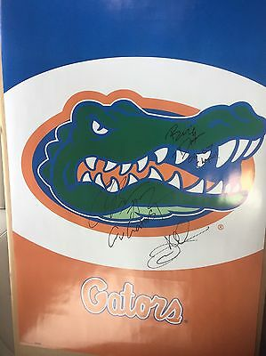 BILLY DONOVAN COREY BREWER Signed Auto Autograph 24x36 Poster Gators Proof Champ