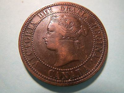 Canada 1881 H Large Cent Copper XF