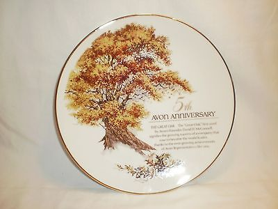 """Avon 5th Anniversary Collector Plate """"The Great Oak"""""""