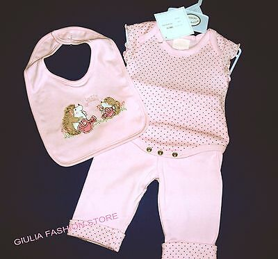 Completo 3 Pz 100% Cotone Neonata 1 Mese / Baby Set 3 Teiler