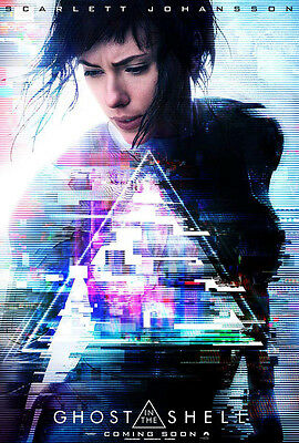 GHOST IN THE SHELL MOVIE POSTER 2 Sided ORIGINAL 27x40 SCARLETT JOHANSSON
