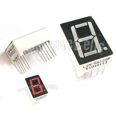 """1 pc 0.56"""" 7 Segment 1 Digit Super Red LED Display Common Anode 10 Pins"""
