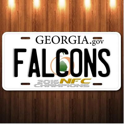 2016 NFC Champions Atlanta Falcons Aluminum License Plate Tag Official size NEW
