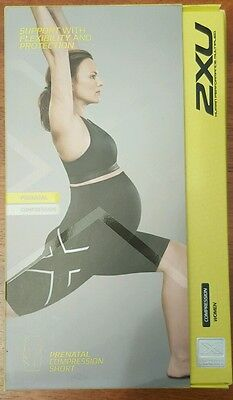maternity shorts, compression, 2XU, size 8 to 10