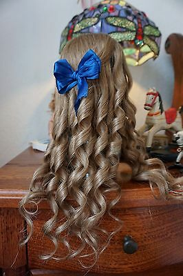 Human Hair Doll Wig For Antique Bisque Porcelain Doll