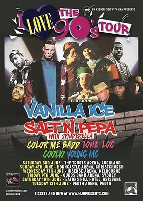 4 x Silver VIP Tickets- I Love The 90's Tour - Sydney 9 June 2017