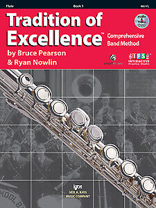 Pearson & Nowlib: Tradition of Excellence Enhanced Book 1 Flute - Kjos W61FL NEW