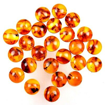 Lovely 25 Pcs Round BALTIC AMBER Wholesale Lot 6x6 mm Loose Gemstones 8.50 Cts