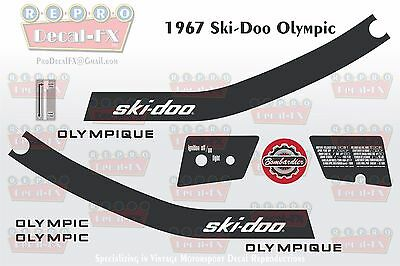 1967 Ski-Doo Olympic Reproduction 10 Pc Vinyl Decals SKIDOO Snowmobile Graphics