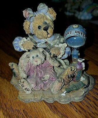 Boyds Bears Bearstone Collection - A little off the Top, Don't ask the Barber,99