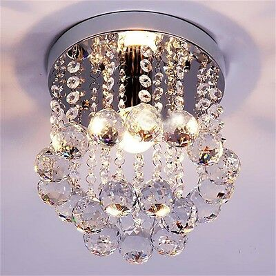 Crystal Droplets Silver Chrome Ceiling Pendant Light Chandelier Fitting Lamp AU