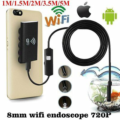6LED Wifi Endoscope Waterproof Inspection 720P Camera For iPhone Android /IOS B9