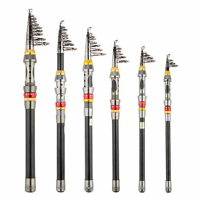 Super Light Carbon Telescopic Pole Saltwater Casting Sea Fishing Rods B9