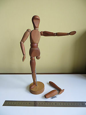 VINTAGE Japan ARTISTS MODEL JOINTED ARTICULATED WOOD MANNEQUIN 32cm for Repair