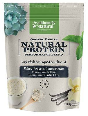 Organic Vanilla Natural Whey Protein Powder Shake Superfood Fueled  Recovery 1kg