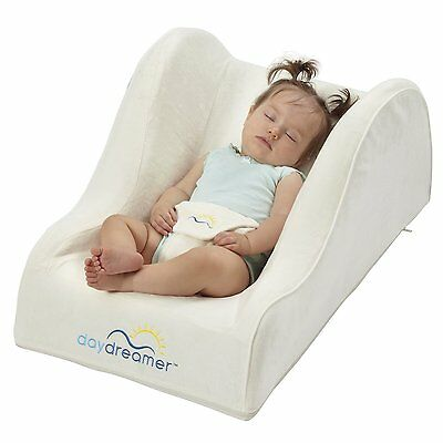 DexBaby DayDreamer Sleeper Seat for Baby - Inclined Portable Infant Bed, Ecru