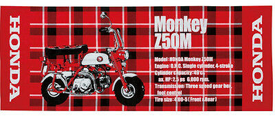 Honda Z50M Monkey Japanese Traditional Tartan Printed Towel NEW / #0SYEP-W9N-RF