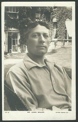 Lewis Waller Stage Actor Portrait 1905 Rotary Real Photo Postcard