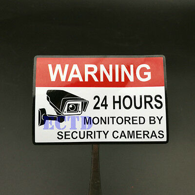 CCTV VIDEO SURVEILLANCE STICKER  House Security Camera Alarm Warning Decal 2x3""