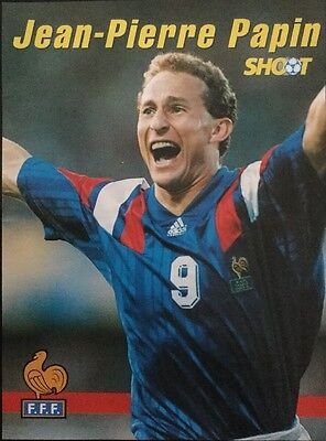 1992 A4 Football picture poster A Very Happy JEAN-PIERRE PAPIN France