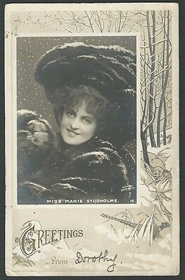 Marie Studholme Stage Actress 1904 Rotary Real Photo Postcard