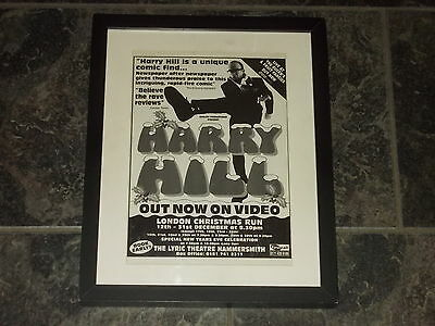 Harry Hill-1996 Original advert Framed ready for your wall