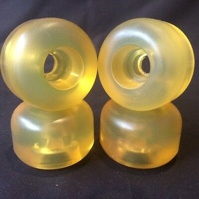 Pro Skateboard Sticky / Softies Wheels 58mm 82a Yellow Transparent Set Of 4