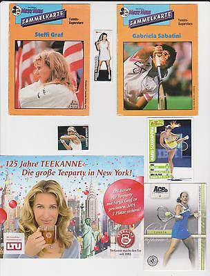 Tennis cards & sticker collection Lisicki, Sharapova, Agassi, Graf, Sabatini etc