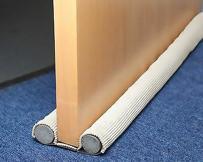 New Easy Fit Double Sided Draught Excluder Quick Fit Cord Winter Heat Loss 78cm