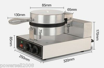 1200W Lattice Thicken Commercial Non Stick Plates Waffle Maker Stainless Steel